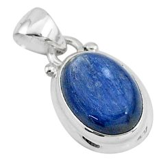 6.26cts natural blue kyanite 925 sterling silver handmade pendant t2200