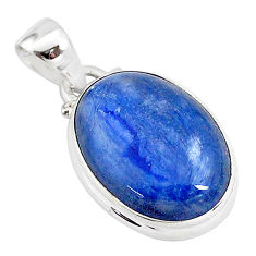 11.57cts natural blue kyanite 925 sterling silver pendant jewelry t2638