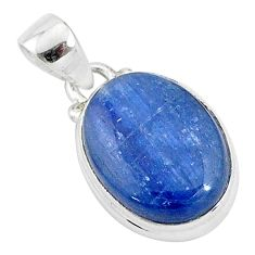 10.05cts natural blue kyanite 925 sterling silver pendant jewelry t4155