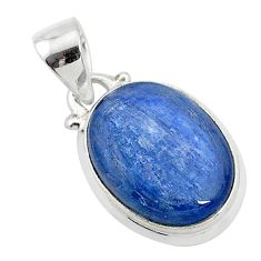 10.05cts natural blue kyanite 925 sterling silver pendant jewelry t4157