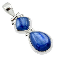 9.58cts natural blue kyanite pear 925 sterling silver pendant jewelry r46865