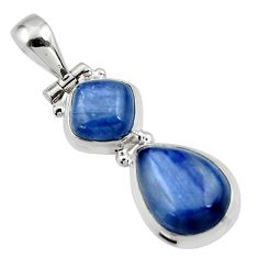 9.34cts natural blue kyanite pear 925 sterling silver pendant jewelry r46869