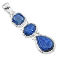 13.78cts natural blue kyanite pear 925 sterling silver pendant jewelry r47194