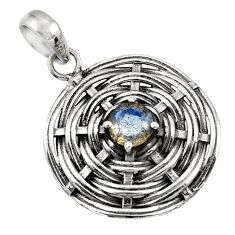 Clearance Sale- 1.15cts natural blue labradorite 925 sterling silver pendant jewelry d45688
