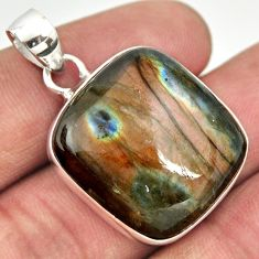 28.73cts natural blue labradorite 925 sterling silver pendant jewelry r26147