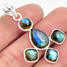 12.52cts natural blue labradorite 925 sterling silver pendant jewelry r35202