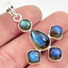 12.54cts natural blue labradorite 925 sterling silver pendant jewelry r35209