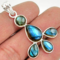 10.15cts natural blue labradorite 925 sterling silver pendant jewelry r42028