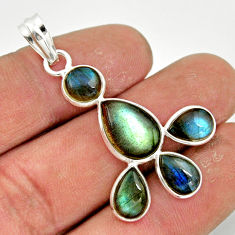 10.11cts natural blue labradorite 925 sterling silver pendant jewelry r42029