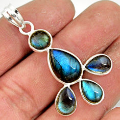 10.11cts natural blue labradorite 925 sterling silver pendant jewelry r42030