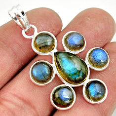 13.21cts natural blue labradorite 925 sterling silver pendant jewelry r42032