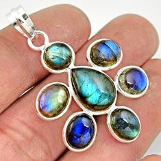 14.22cts natural blue labradorite 925 sterling silver pendant jewelry r42033