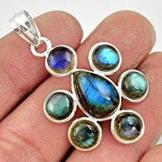 13.75cts natural blue labradorite 925 sterling silver pendant jewelry r42035