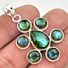 13.23cts natural blue labradorite 925 sterling silver pendant jewelry r42037