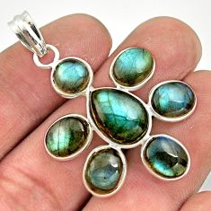 15.00cts natural blue labradorite 925 sterling silver pendant jewelry r42038