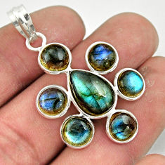 13.05cts natural blue labradorite 925 sterling silver pendant jewelry r42039
