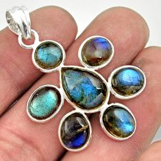 13.75cts natural blue labradorite 925 sterling silver pendant jewelry r42040