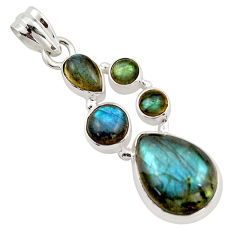 14.94cts natural blue labradorite 925 sterling silver pendant jewelry r43094