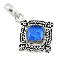 3.29cts natural blue labradorite 925 sterling silver pendant jewelry r57654