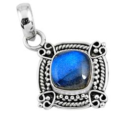 3.05cts natural blue labradorite 925 sterling silver pendant jewelry r57655