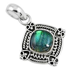 3.05cts natural blue labradorite 925 sterling silver pendant jewelry r57657