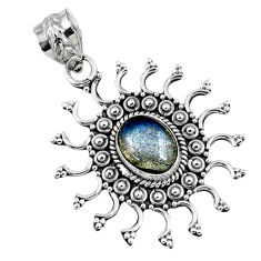 3.01cts natural blue labradorite 925 sterling silver pendant jewelry r57776