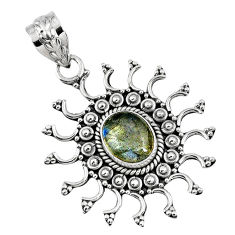 3.01cts natural blue labradorite 925 sterling silver pendant jewelry r57777