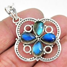 8.67cts natural blue labradorite 925 sterling silver pendant jewelry t10660