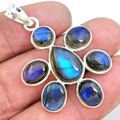16.44cts natural blue labradorite 925 sterling silver pendant jewelry t10699