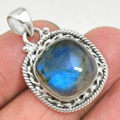 14.23cts natural blue labradorite 925 sterling silver pendant jewelry t11041