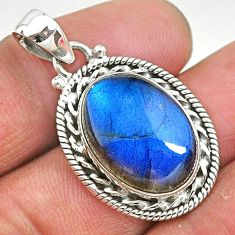 13.94cts natural blue labradorite 925 sterling silver pendant jewelry t11049