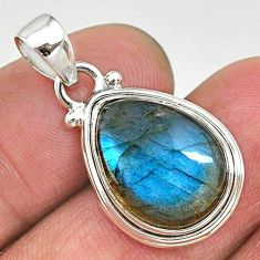 9.49cts natural blue labradorite 925 sterling silver pendant jewelry t11052
