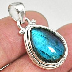 9.77cts natural blue labradorite 925 sterling silver pendant jewelry t11054