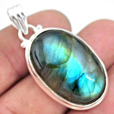 26.65cts natural blue labradorite 925 sterling silver pendant jewelry t39746
