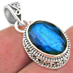 6.05cts natural blue labradorite 925 sterling silver pendant jewelry t42182