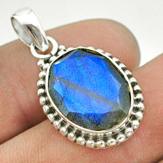 9.61cts natural blue labradorite 925 sterling silver pendant jewelry t53339
