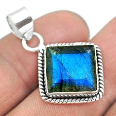 6.39cts natural blue labradorite 925 sterling silver pendant jewelry t53605