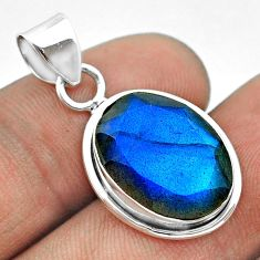 8.79cts natural blue labradorite 925 sterling silver pendant jewelry t53607