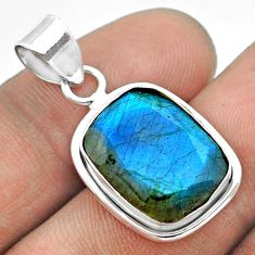 8.73cts natural blue labradorite 925 sterling silver pendant jewelry t53608