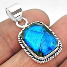 9.57cts natural blue labradorite 925 sterling silver pendant jewelry t53619