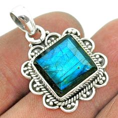 5.82cts natural blue labradorite 925 sterling silver pendant jewelry t55981