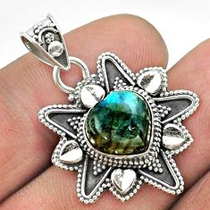 5.38cts natural blue labradorite 925 sterling silver pendant jewelry t56081