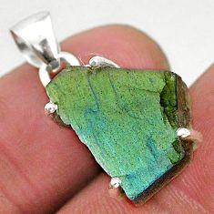 9.33cts natural blue labradorite slice 925 sterling silver pendant r95509