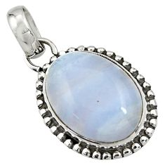 13.70cts natural blue lace agate 925 sterling silver pendant jewelry r26519