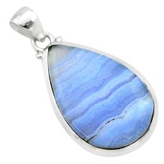 16.85cts natural blue lace agate 925 sterling silver pendant jewelry t22481