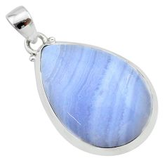 19.42cts natural blue lace agate 925 sterling silver pendant jewelry t22524