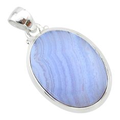14.69cts natural blue lace agate 925 sterling silver pendant jewelry t22539