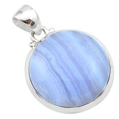 16.69cts natural blue lace agate 925 sterling silver pendant jewelry t22548
