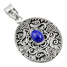 Clearance Sale- 2.11cts natural blue lapis lazuli 925 sterling silver pendant jewelry d39221