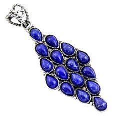 Clearance Sale- 18.12cts natural blue lapis lazuli 925 sterling silver pendant jewelry d45463